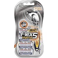 BIC Flex5 Hybrid Rasoir pour Homme - Blister de 1 + 4 Recharges