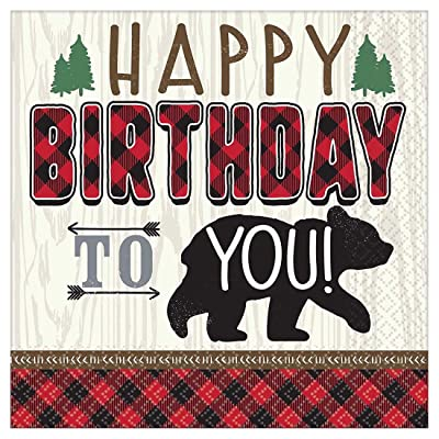 Amscan Little Lumberjack Birthday Luncheon Napkins: Toys & Games