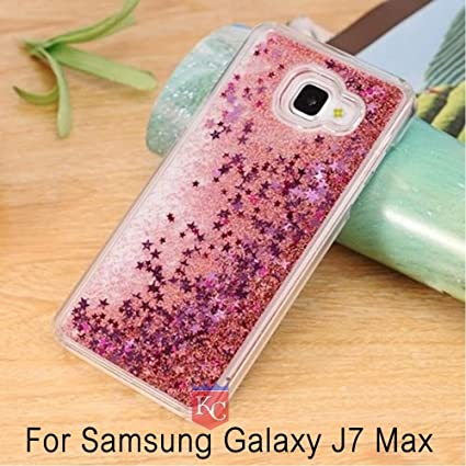 huge selection of 2c128 f7590 KC Liquid Flowing 3D Bling Glitter Star Case Transparent Soft Back Cover  for Samsung Galaxy J7 Max (Rose Gold Pink)