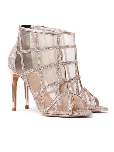 2432ba470843 Ted Baker Women s Xstal Peep Toe Heels - Rose Gold