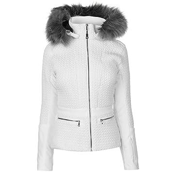 a3bdcf3959 Nevica Womens Beverley Ski Jacket Coat Top Waterproof Hooded Zip Full  Insulated White 18 (XXL