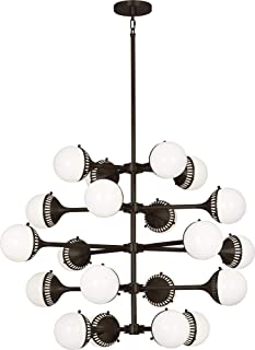 product image for Robert Abbey Z789 Jonathan Adler Rio - Twenty Light Chandelier, Deep Patina Bronze Finish with White Glass