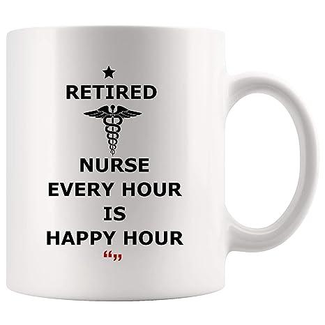 Amazon.com: Retired Nurse Every Hour Happy Nursing Mug ...