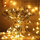 Star Fairy Lights - 70 LED 33 FT Star String Lights Waterproof for Indoor, Outdoor, Bedroom, Wedding, Party, Christmas…