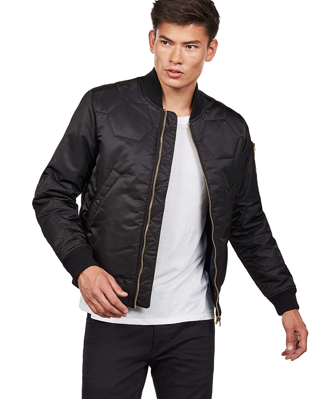 5943344c9 Amazon.com: G-Star Men's Vodan Quilted Bomber Jacket, Black, Large ...