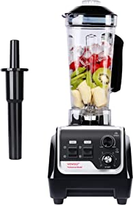 VOVOLY 2200W Professional Blender, Countertop Blender, Kitchen Food Processor with Speed & Timer Control, High Power Home Blender For Shake, Smoothie, Ice, Juice, 68 OZ, Black