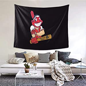 "Sgrtyx Chief Wahoo Decorative Wall Blanket Tapestries for Bedroom Living Room Dorm Decor 60"" X 51""Inches Indoor Tapestries Vertical Version"