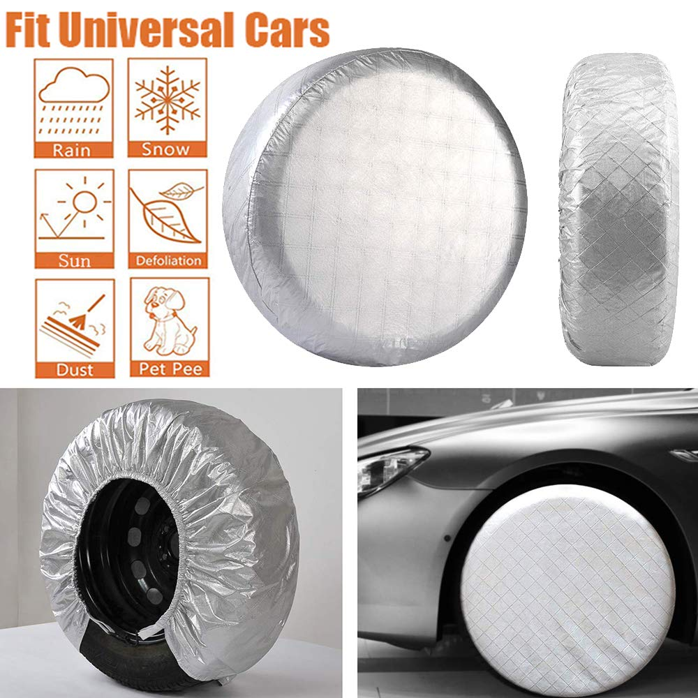 Waterproof UV Sun RV Trailer Truck Camper Tire Protectors Fit 27 to 29 Tires Diameter Fit 27 to 29 Tires Diameter Immerguter Vocanbomor Set of 4 Tire Covers
