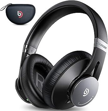 Auriculares Bluetooth 5.0 Diadema Bomaker, con Cancelación Activa de Ruido, Cascos Bluetooth Inalámbricos, Hi-Fi Sonido Estéreo, Micrófono Incorporado, CVC 8.0, con Estuche, para PC/Móvil/TV, Negro: Amazon.es: Electrónica