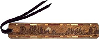 product image for Personalized Wolf Howling at The Moon, Engraved Wooden Bookmark with Suede Tassel - Search B071CTP44Z for Non-Personalized Version