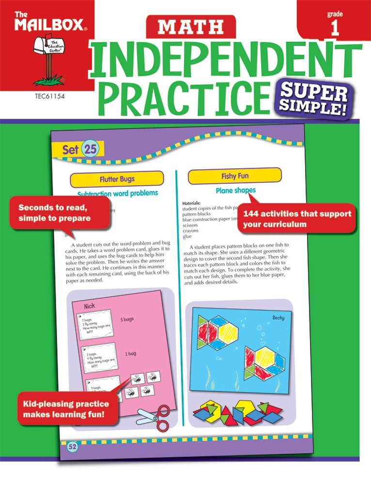 Super Simple Independent Practice: Math (Gr 1): The Mailbox