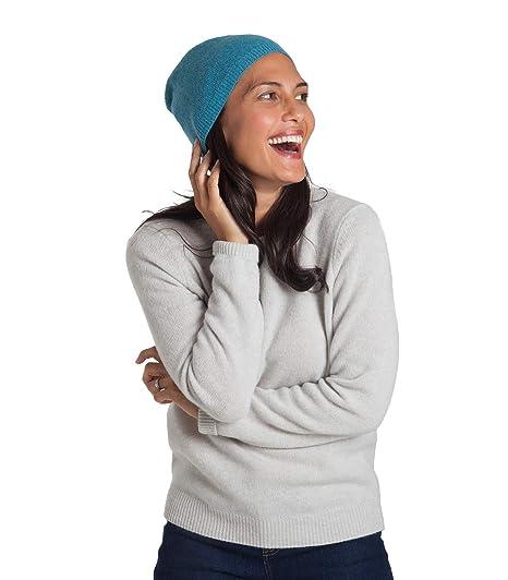 aca21f520b0 Woolovers Womens Pure Cashmere Hat Deep Mint Marl