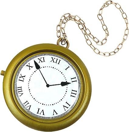 4e Reloj De Conejo Blanco De Gran Tamaño Unido A Un Collar Disfraz De Fiesta De Halloween Alicia En El País De Las Maravillas Reloj Rápido De Hip Hop No