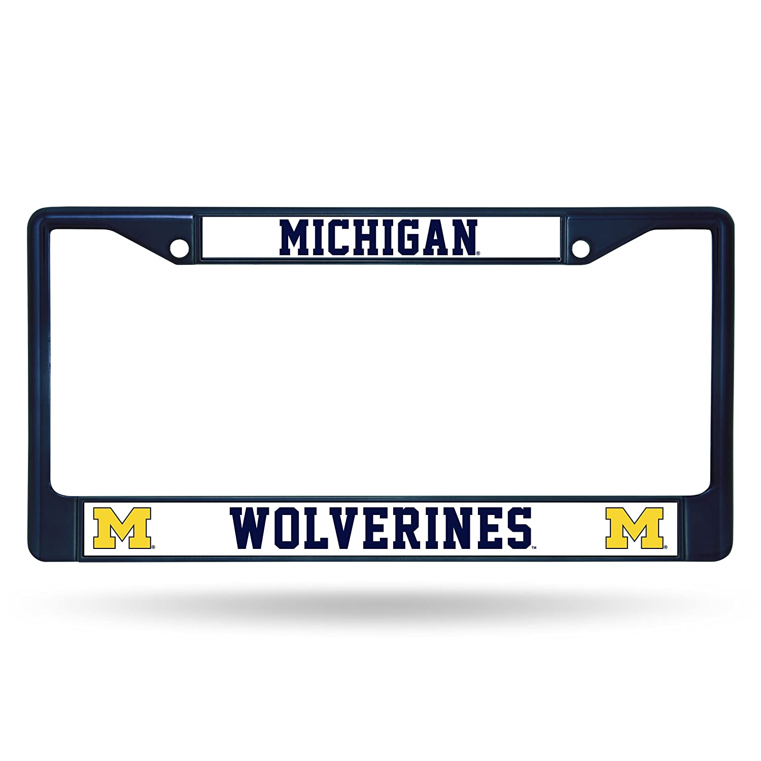 Navy NCAA Michigan Wolverines Team Colored Chrome License Plate Frame