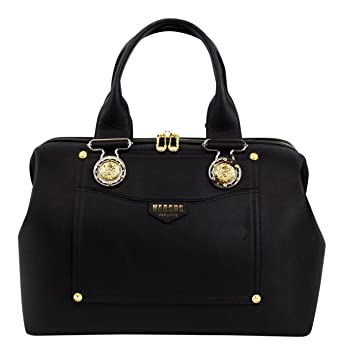 Amazon.com   VERSUS VERSACE Black Leather Lion Head Satchel Hand Bag   Baby 03e5e81fbe6bd