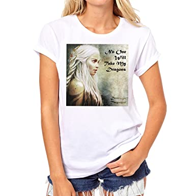 Daenerys Targaryen Game Of Thrones Quote No One Will Take My Dragons XXL Damen  T-