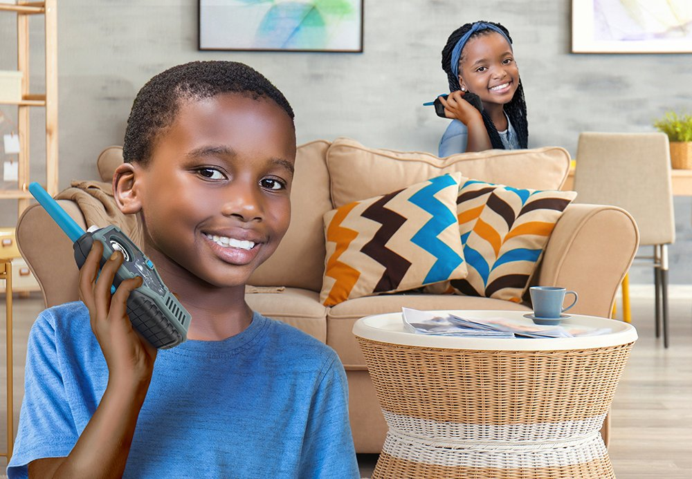 eKids Black Panther FRS Walkie Talkies with Lights & Sounds Kid Friendly Easy to Use by eKids (Image #4)