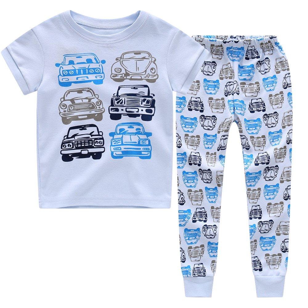 CNBABY Selected Dinosaur Pajamas Car Boys Cotton Sleepwear Size 2-8T