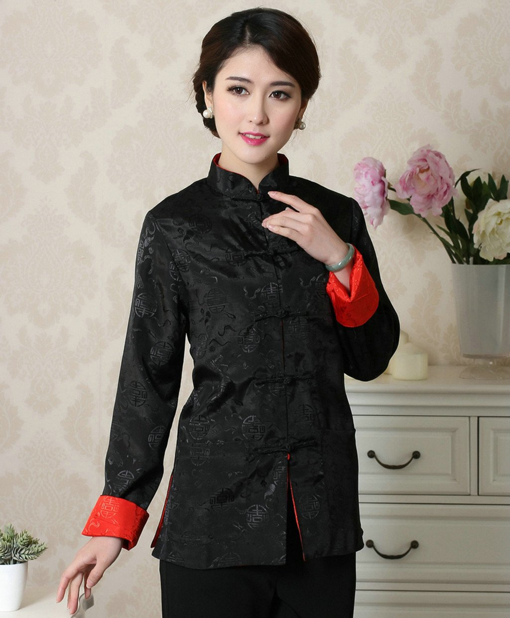Womens Tang Suits Womens Leisurewear Double-sided Wear Spring and Autumn Womens Clothes Long sleeved Coat Chinese Jackets by Womens Tang Suit (Image #3)