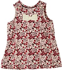 H&M Floral Corduroy Jumper Dress