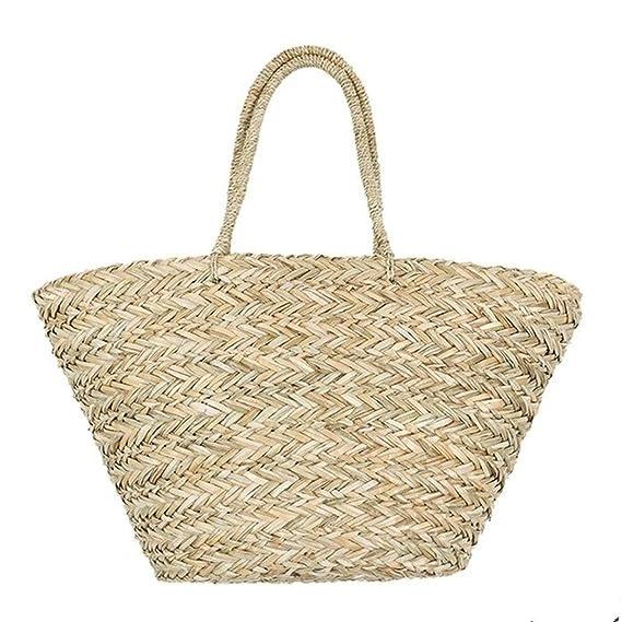4d0b16a35a2d Amazon.com: Summer Women Durable Weave Big Beach Bag Shoulder Bag ...