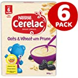 CERELAC Nestle Oats & Wheat with Prune Baby Cereal Stage 2 -6x200g