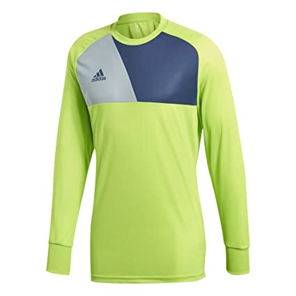 c51853a1c adidas Men's Soccer Assita 17 Goalkeeper Jersey, Solar Slime/Night  Marine/Light Grey