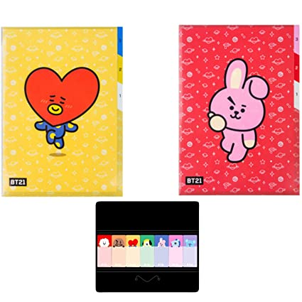 : eKoi Cute KPOP BTS BT21 Folder 3 Pocket