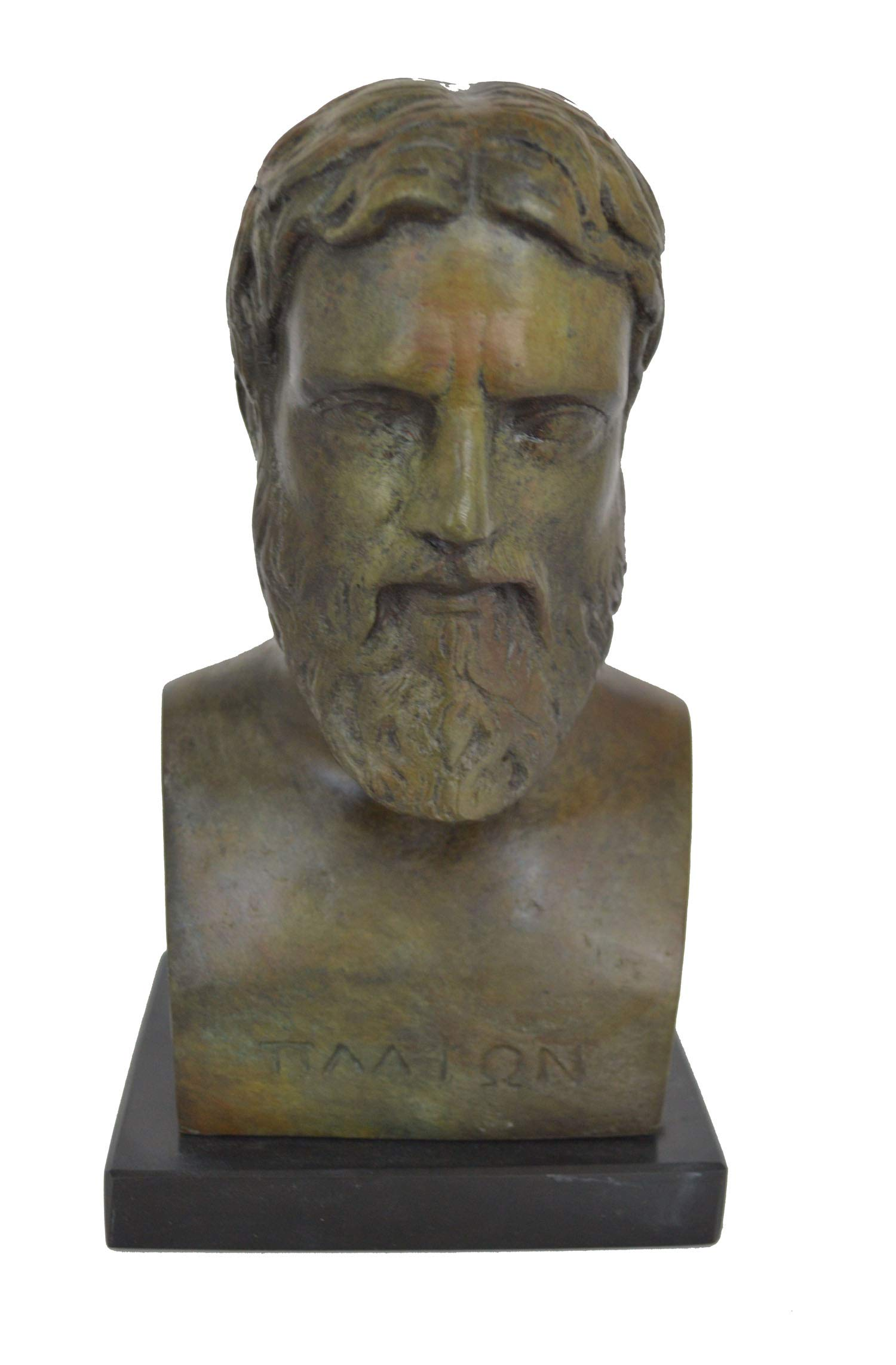 Hand Made Plato Bronze Bust - Greek Philosopher student of Socrates Unique Piece - Platon by Hand Made