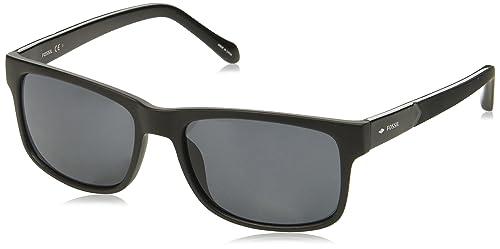 Amazon.com: Fossil fos3061s rectangular anteojos de sol de ...