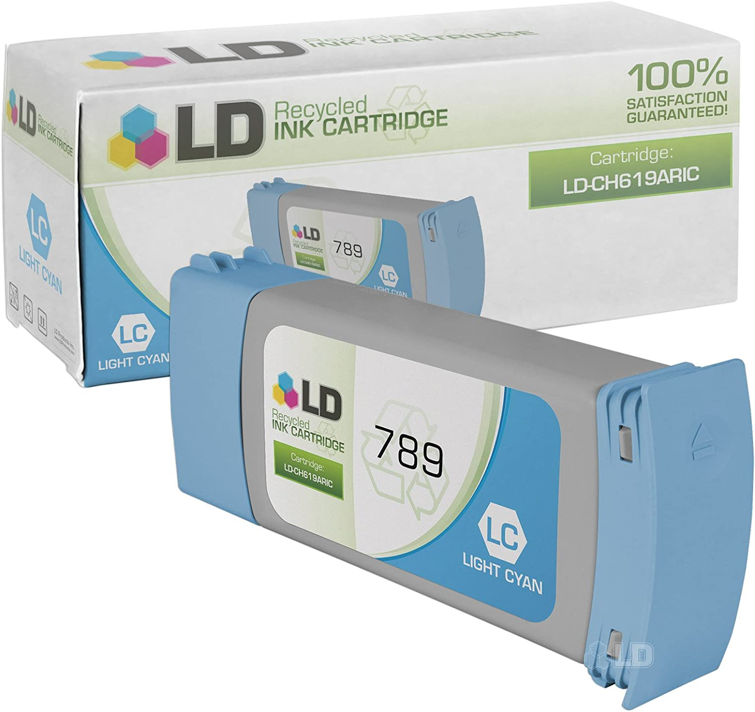LD Remanufactured Ink Cartridge Replacement for HP 789 CH619A (Light Cyan)