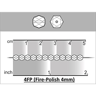 100 pcs Checa facetado cuentas de vidrio, ronda fire-polished tamaño 4mm Chalk Lava Red: Hogar