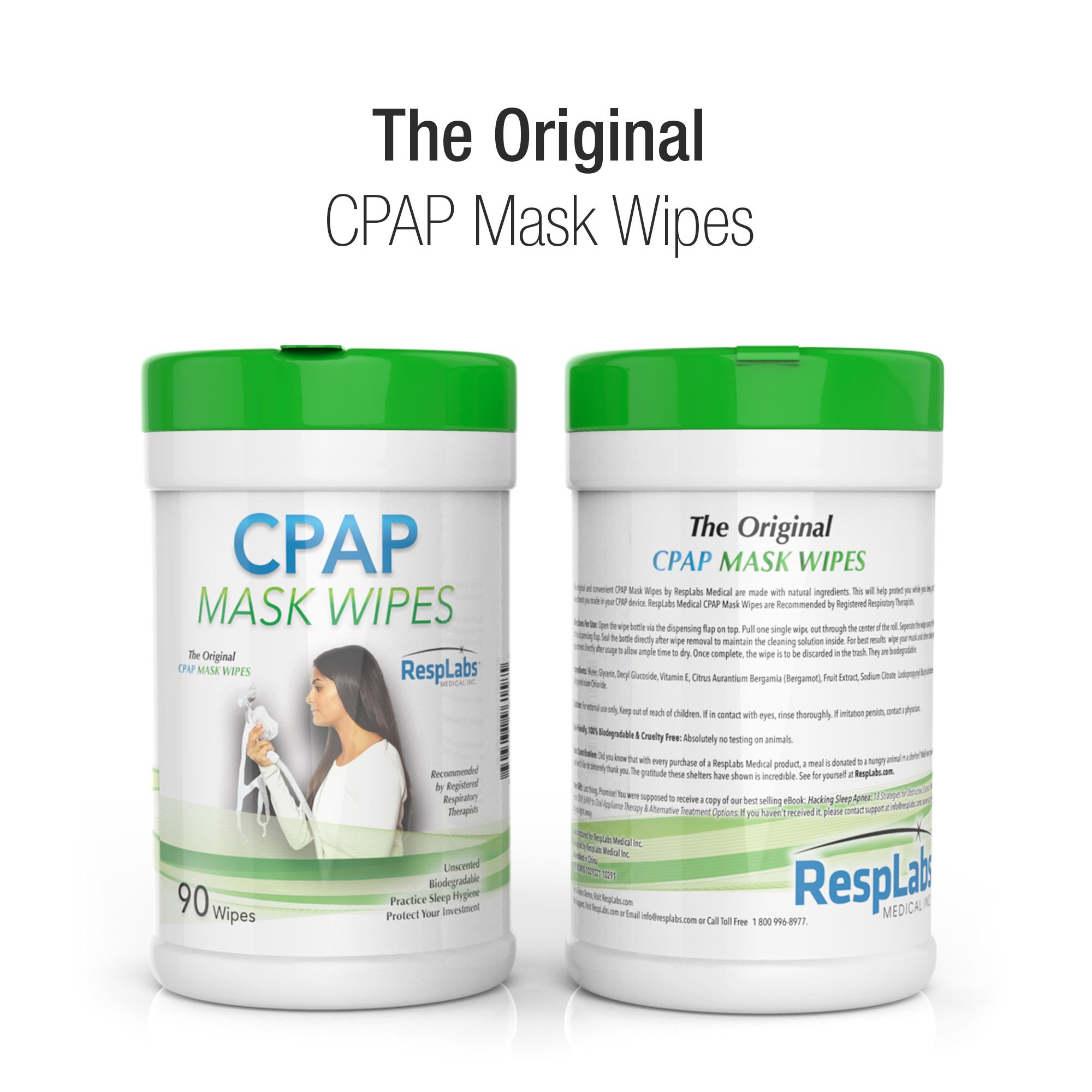 CPAP Mask Cleaning Wipes - 90 Pack + Travel Wipe | The Original Unscented Cleaner and Sanitizer for Masks | Equipment & Machine Supplies by RespLabs by RespLabs Medical Inc. (Image #2)