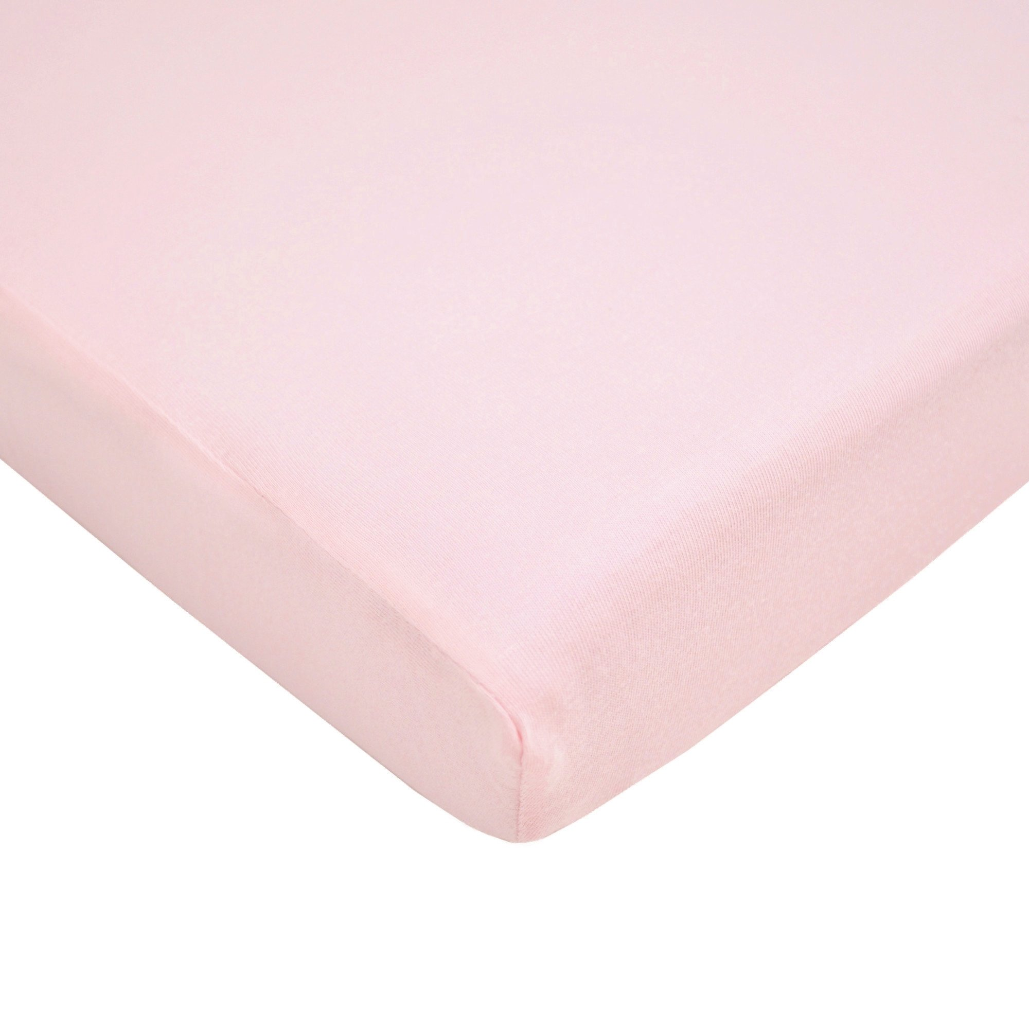 TL Care 100% Cotton Value Jersey Knit Fitted Portable/Mini-Crib Sheet, Pink