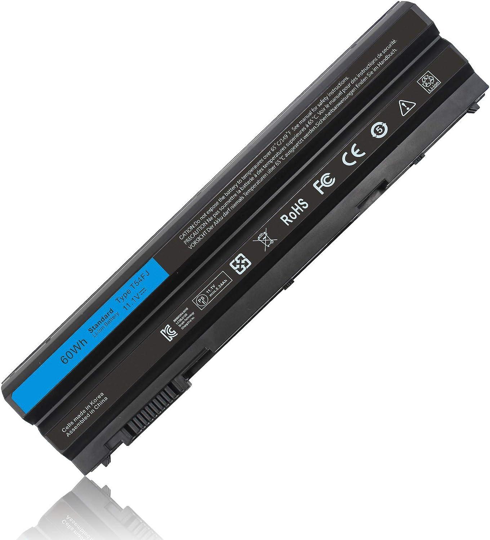 Yongerwy 60Wh T54FJ Laptop Battery for Dell Latitude E5420 E5430 E5520 E5530 E6420 E6430 E6440 E6520 E6530 Inspiron M421R M521R 4420 4520 4720 5420 5425 Series P8TC7 P9TJ0 R48V3 PRRRF 312-1163