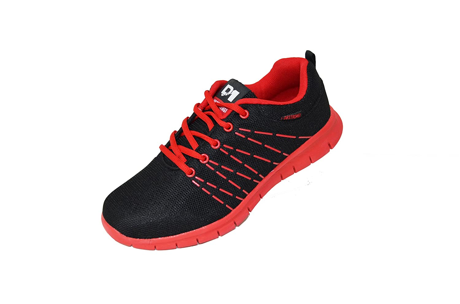Amazon.com | Men's Lightweight Running Sneakers Athletic Shoes (SM-212)  Black/Red 7.5 M US | Shoes