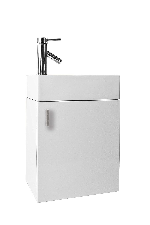 Virtu JS-50416-GW Carino Single Bathroom Vanity Cabinet Set, 16 ...