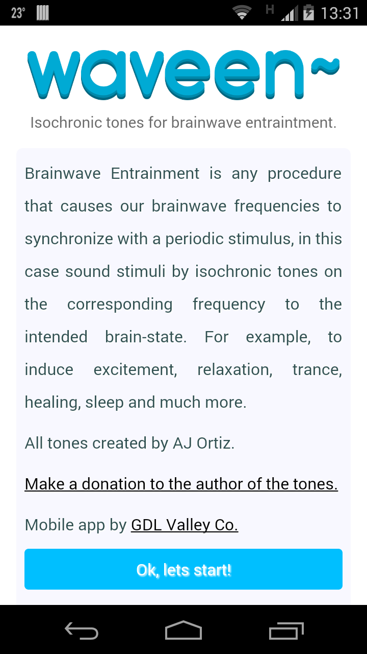 Waveen~Isochronic tones and binaural beats for brainwave