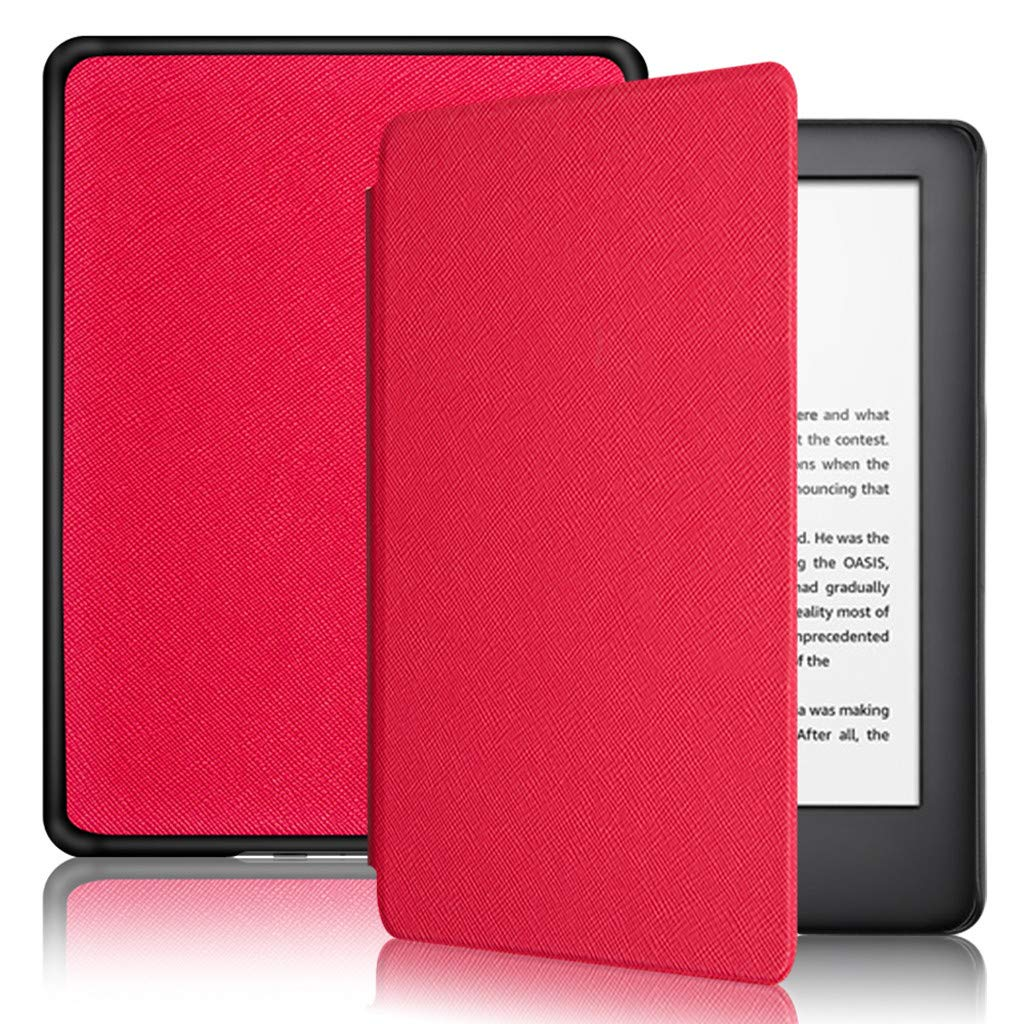 for Amazon All-New Kindle 10th Generation 2019 Cover,Thing-ning Lightweight Smart Cover Leather Flip Stand for Amazon All-New Kindle 10th Generation 2019 (Red)