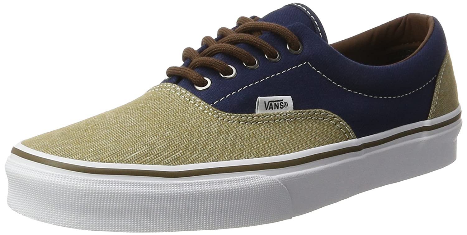 Vans Unisex Era Skate Shoes, Classic Low-Top Lace-up Style in Durable Double-Stitched Canvas and Original Waffle Outsole B01N0ORILG 8.5 Women / 7 Men M US|Dress Blues