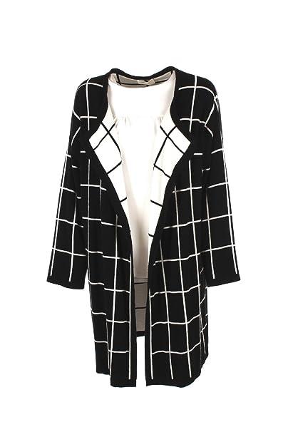 041cb875b8a9 VICOLO Cardigan Donna Nero 2017v Autunno Inverno 2016 17  Amazon.it   Abbigliamento