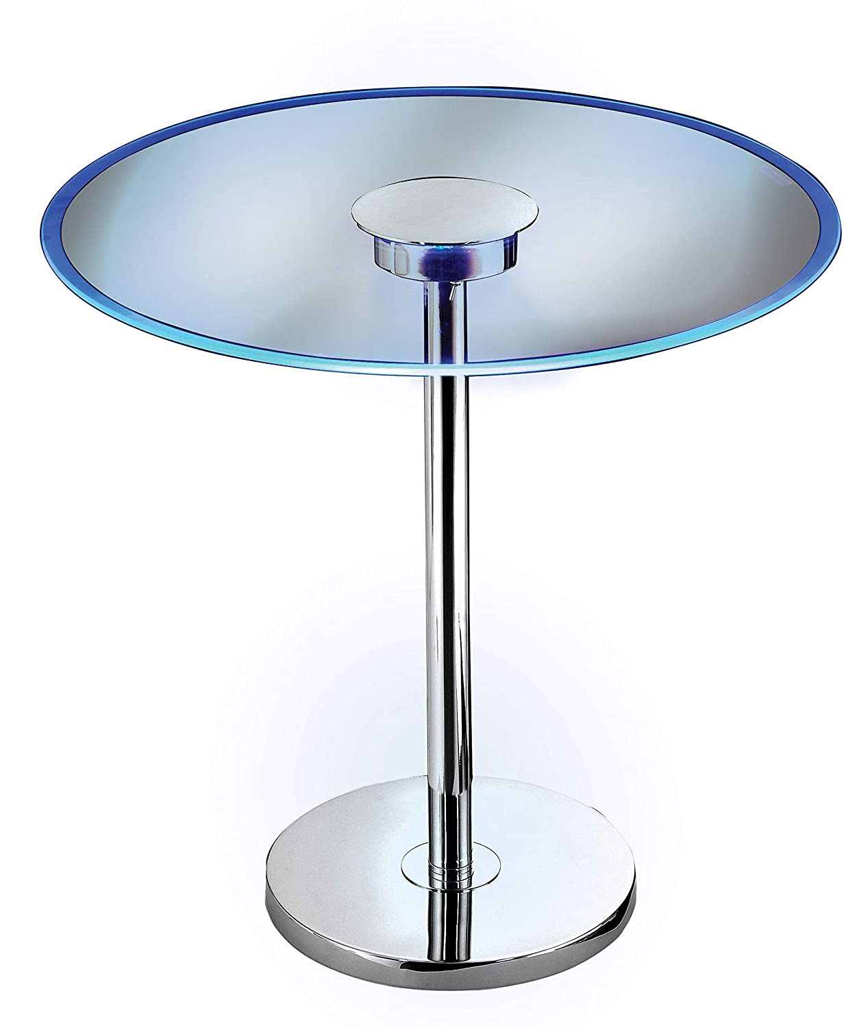 Kenroy Home 32176GCH Spectral Color Changing LED Accent end Table 20 Inch Dia. x 20 Inch Height Chrome Glass