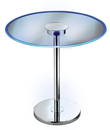 Kenroy Home 32176GCH Spectral Color Changing LED Accent end Table, 20 Inch Dia. x 20 Inch Height, Chrome Glass
