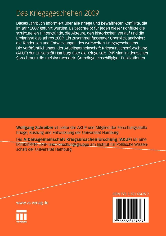 Das Kriegsgeschehen 2009: Daten und Tendenzen der Kriege und ...