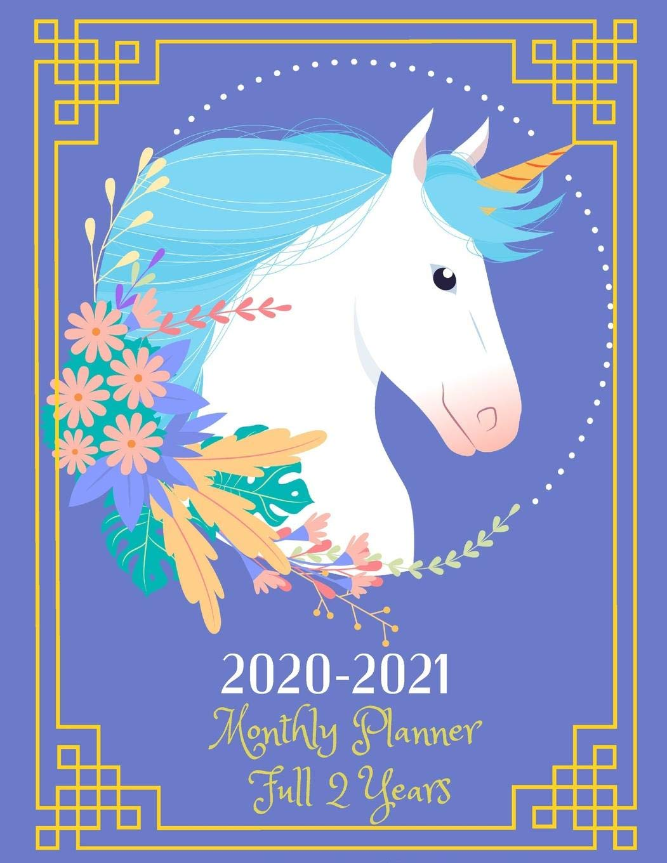 Usf Calendar 2020-2021 2020 2021 Monthly Planner Full 2 Years: Unicorn Cover, Jan 2020