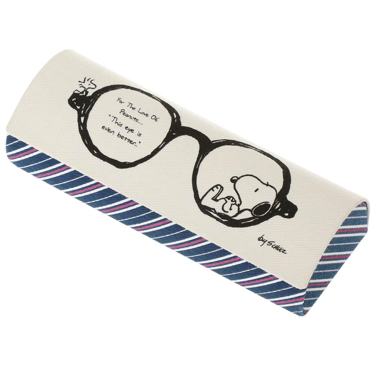 Amazon|カミオジャパン PEANUTS メガネケース(クロス付) スヌーピー 丸メガネ 85270|カミオジャパン , ファッション雑貨 通販