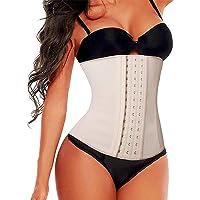 SHAPERX Dam korsett latex midjeformare mage väg under byst klänningsliv sport kroppsformare