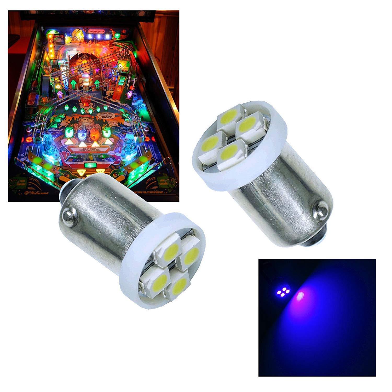 PA® 10PCS #1893 #44 #47 #756 #1847 BA9S 4SMD LED Wedge Pinball Machine Light Bulb Pink (Purple)-6.3V by Per-Accurate Inc.