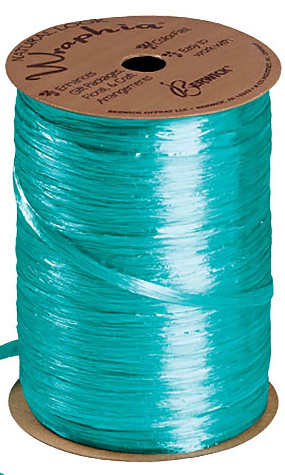 Teal Pearlized Raffia - 100 Yds Per Roll - Pack of 5 by SSWBasics