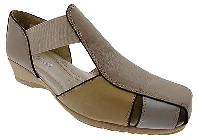659b5d165e Chaussure Sandale élastique Chameau Cou Art Multiples Beige 8967 ...